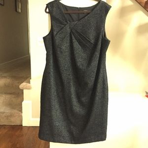 ANN TAYLOR Tweed Wool Retro Style Midi Dress
